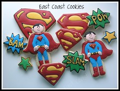 Superman Cookies (East Coast Cookies) Tags: superman decoratedcookies fathersdaycookies supermancookies