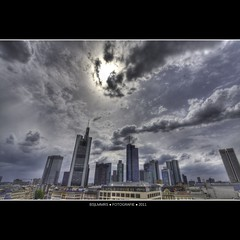 Frankfurt: Euro skyline at a cloudy day (Bas Lammers) Tags: cloud skyline architecture modern skyscraper canon germany deutschland colorful euro frankfurt wideangle colourful uitzicht 1022mm hdr architectuur kleurrijk groothoek 50d mygearandme mygearandmepremium mygearandmebronze mygearandmesilver mygearandmegold mygearandmeplatinum