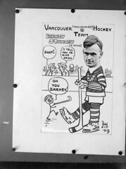 Vancouver (Millionaires) Hockey Team, Vancouver Hockey Club [copy of photo/caricature of Barney Stanley]