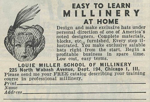 Louie Miller School of Millinery_tatteredandlost