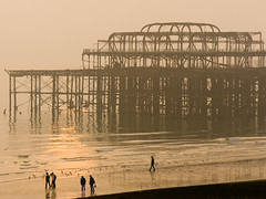 Brighton West Pier with 5 people (david.nikonvscanon) Tags: world camera original winter sunset mist cold west misty digital photoshop photography sussex pier photo search saturated brighton photographer image decay steel postcard creative commons icon images structure photograph luck lucky pixel creativecommons saturation surprise dp digitalphoto find chromatic digitalimage theworld digitalphotograph oneworld aberation nikonvscanon viewtheworld davidnikonvscanon