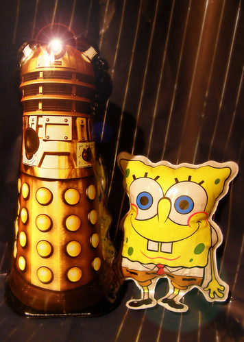 spongebob and dalek inflatable redux