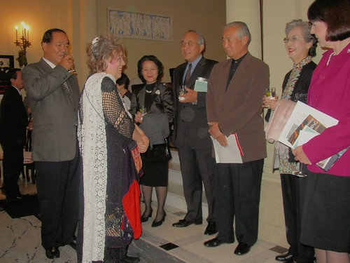 Fujiko Hemming at the Residence of the Consul General of Japan in San Francisco