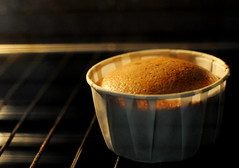 Sponge Cake Mixture in Oven: The Rise