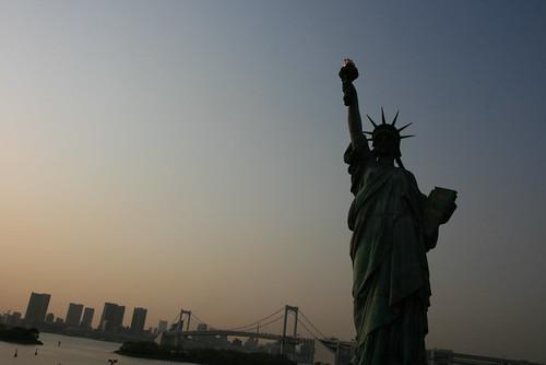 La statue de la liberte a Tokyo (copie conforme de celle a Paris)