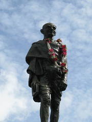 Statue of Mohandas Karamchand Gandhi on Harris...