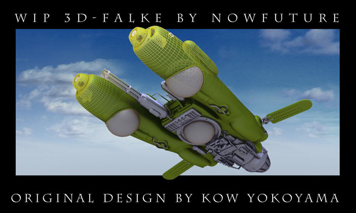 3D WIP of two of Sensei KOW YOKOYAMA's design