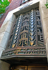 Office of the Treasurer (taberandrew) Tags: college metal hospital university richmond doorway va medicine artdeco vcu brass intricate elaborate mcv virginiacommonwealthuniversity medicalcollegeofvirginia richmondcity westhospital baskervill courtend