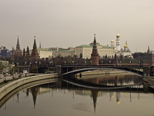 moscu kremlim desde el rio