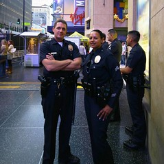 lapd (female officer) Tags: smile radio keys hotel theater gun kodak police hollywood policewoman kiosk uniforms xing rosevelt lapd officers virginmobile womeninuniform femalecop femalepolice womenpolice womencop womensheriff femalesheriff