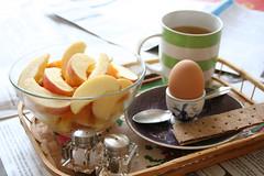 Breakfast (despair and success) Tags: morning apple breakfast egg tray