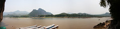 Panorama_IMG_0771_0774 (Marc Aurel) Tags: river laos fluss mekong pakou mekhong flus lowercave thamting 40d eos40d maenamkhong mkngk tonlethom sngculong maekhaung mnamkhong lncngjing