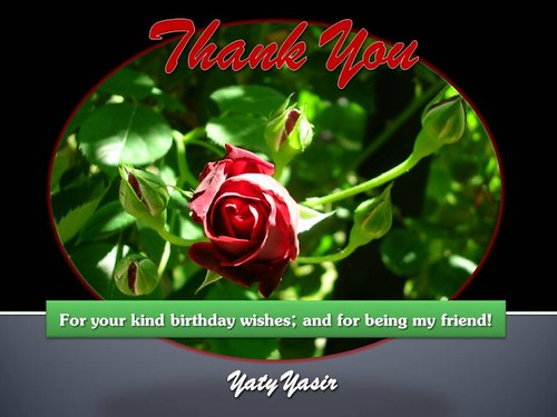 Yaty's Bday Thankyou card