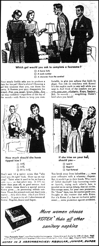 Chatelaine 1949 Kotex