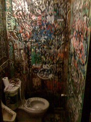 The worst bathroom in San Diego (DigitalCzech) Tags: eastvillage bathroom graffiti sandiego toilet dirty poo iphone shitter