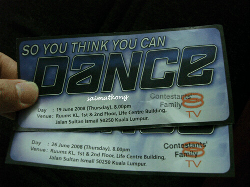 So You Think You Can Dance Season 2, Tickets