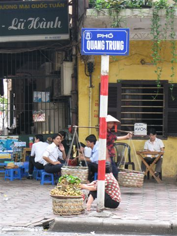 Vietnamese street sign