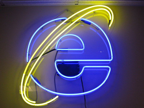 Neon IE Logo - Chris Wilson