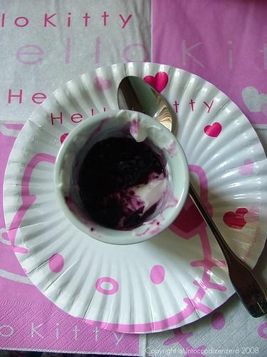 My breakfast 5:greece yogurt with blackberry