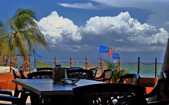 Take a rest for lunch... (jmven) Tags: beach canon de rebel restaurant venezuela playa el margarita isla hdr yaque mosquera xti