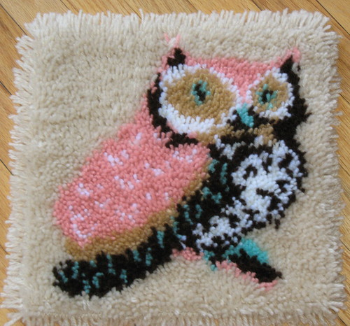 Eleanore the Owl Latch Hook rug