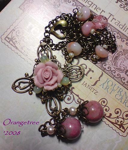 dustyrose necklace
