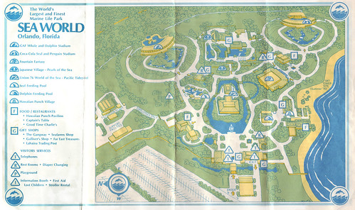 Early 1970\'s Sea World Florida Map - a photo on Flickriver
