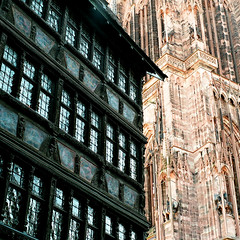 "Strasbourg (Peter Gutierrez) Tags: photo europe european la france french français française alsace basrhin strasbourg alsatian strossburi german strasburg city town urban street streets people gothic heritage architectural architecture ancient monument monuments historic history historiques ancienne square format peter gutierrez ""peter gutierrez"" public film photograph photography"