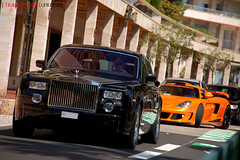 Rolls-Royce Phantom and Gemballa Mirage GT (Julien Rubicondo Photography - julienrubicondo.com) Tags: orange black germany rollsroyce montecarlo monaco cayenne turbo porsche mirage gt carbon phantom luxury supercar carrera supercars prinz gemballa gt750 gt650