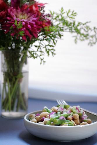 Three Bean Salad Served