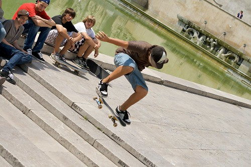 Skaters in Paris
