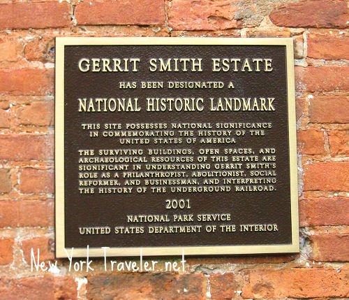 Gerrit Smith Estate Plaque