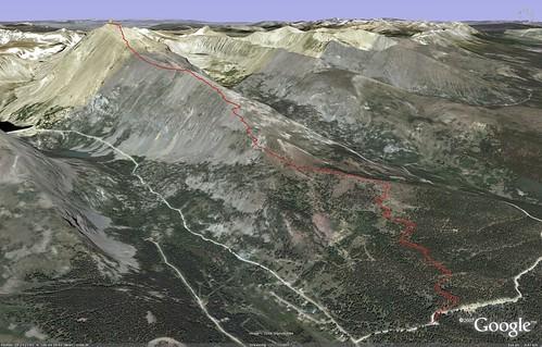 Quandary Peak Map