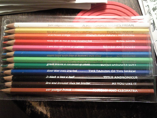Shakespearean pencils