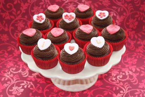 'I Love You' Cupcakes