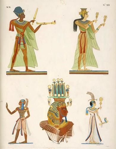 01- Fig 1. Ramses III [Ramses II]; Fig. 2. Nofre-Ari [Nefertari]; Fig. 3. Ramses IV [Ramses III]; Figg. 4 e 5. Principe e principessa.