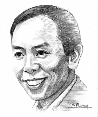 Pencil portrait of Robin Ho