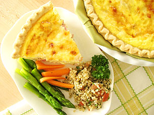 Quiche With Ham And Cheese
