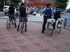 2 pair (shezzz) Tags: girls policemen koenji 高円寺 2pair