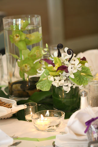 submerged flower centerpieces. Tropical Flower Centerpiece