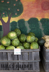 fruit acres008 (swardraws) Tags: fruit mural michigan fruitstand watermellon