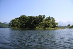 松島のように島が点在する
