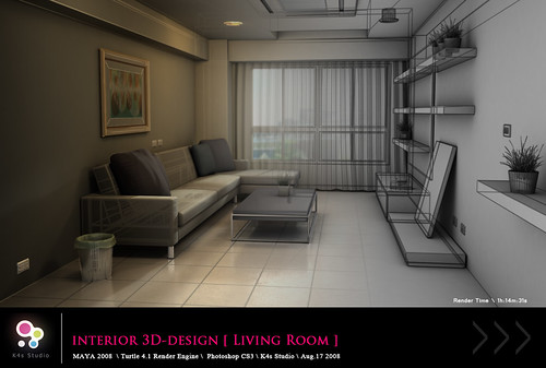 Interior 3D-Design [ Living Room ]  View_02