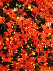 Box of Lego mini-figs