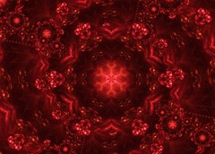 Pulsing Red (PhotoComiX) Tags: red gimp kaleidoscope fractal pulse cosmic caleidoscopio droste mathmap photocomix pulsingred