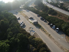 Parking lot (south) at Rincon (flyingcamera) Tags: california above santa street house kite beach home wet water rock santabarbara river 1 surf waves wind shoreline wave surfing location aerial kites hwy 101 barbara lowtide kap aerialphotography ventura kiteaerialphotography hwy1 rincon rinconpoint musselshoals kiteview
