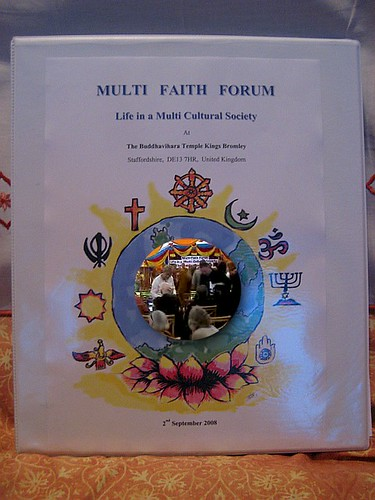 Multi Faith Forum at the Buddha Vihara, Eastfield House