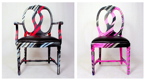 Graffiti art-inspired chairs