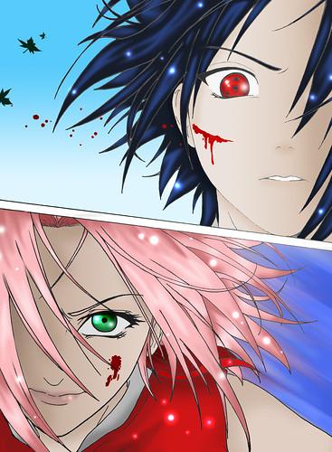 Naruto · Sakura vs. Sasuke