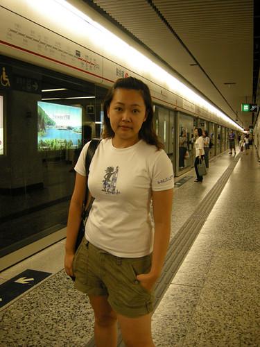 你拍攝的 搭香港地鐵2。
